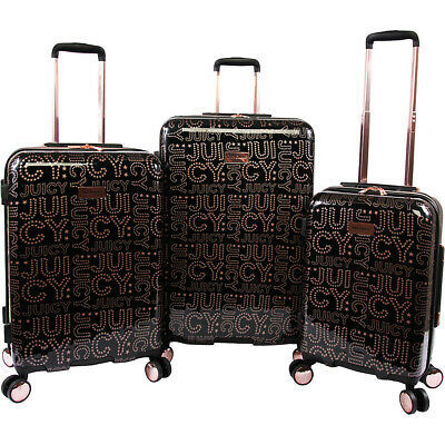 Juicy Couture Florence 3 Piece Hardside Spinner Luggage Luggage Set NEW