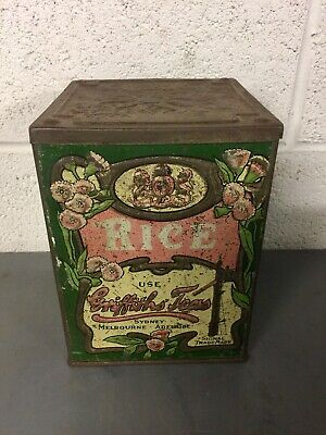 Vintage Griffiths Tea Tin In Good Condition.