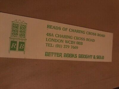 Cardboard Bookmark. Reads Of Charing Cross Road.