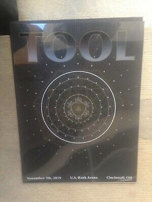 TooL concert poster-Cincy OH 11/5/19 Joyce Su /Double Layer Danny Geometry-TRADE