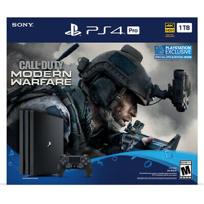 Brand New PlayStation 4 Pro 1TB Call of Duty Modern Warfare Bundle