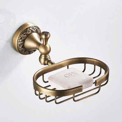 Vintage Style Solid Brass Wall Mounted Bath Shower Soap Dish Holder Basket