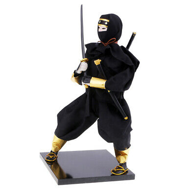 Exquisite Japanese Dolls Warrior Statue Ninja Figurine Sculpture Craft YR1