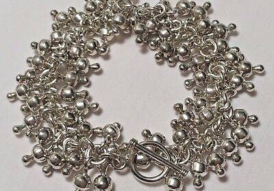 """Silpada Cha-Cha Bracelet Sterling Silver Toggle Signed Excellent Cond ~7.5"""""""