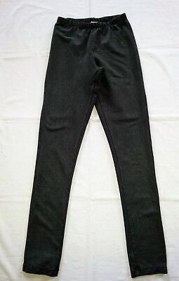 Size 8 Girls Now Denim Black Leggings/Jeggings Cotton/Polyester/Elastane