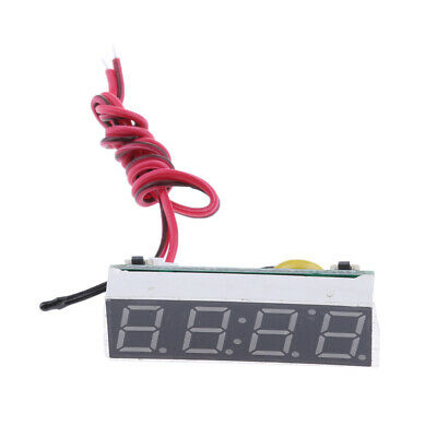 Multi-functional Car Auto LED Digital Clock Thermometer Voltage Meter Green