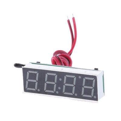 Multi-functional Car Auto LED Digital Clock Thermometer Voltage Meter Blue