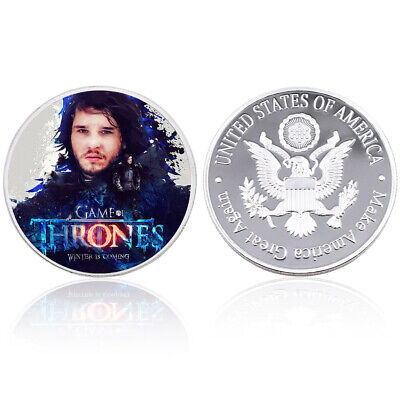 Christmas Souvenir Gifts Snow Commemorative Game of Thrones Challenge Coin