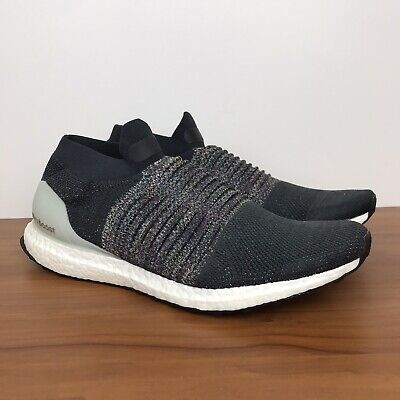 adidas Performance Ultra Boost Laceless Sneakers CarbonSolid GreyAsh Silvern