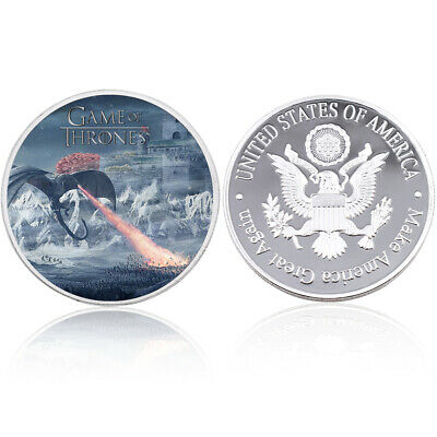 Festival Souvenir Gifts Game of Thrones 999.9 Silver Plated Commemroative Coin