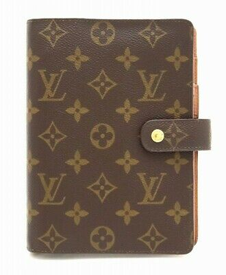 LOUIS VUITTON R20105 Monogram Agenda MM Book Daily Planner Cover Case Used LV