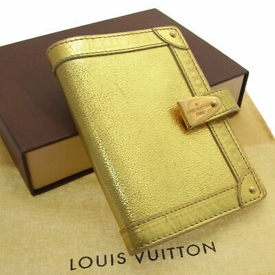 Louis Vuitton R21048 Suhali Agenda PM Pultner NotoBook Cover Case Gold W/Box