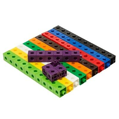 Educational Counting Toy, Set of 100 Snap Cubes Build Learning Resource School