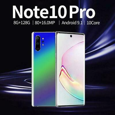 Note10+ 6.8'' Unlocked Smart Phone 8+128G Android 9.1 HD Dual SIM Mobile 4G