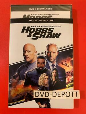 HOBBS & SHAW DVD + DIGITAL & Slipcover **AUTHENTIC READ** New FAST Free Shipping