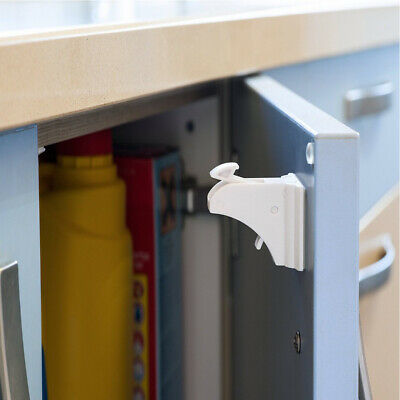 4x Magnetic Safety Invisible Cupboard Lock Baby Child Pet Proof Drawer Security