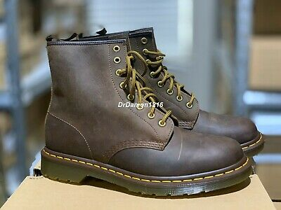 Details about Doc Martens 939 6 Eye Padded Collar Tan Greasy Suede Leather Boots Wms DISC