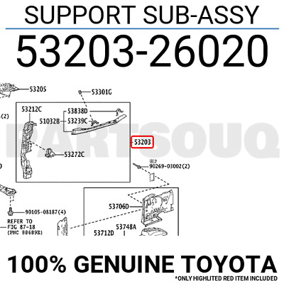 Toyota 53205-42080 Radiator Support Sub Assembly