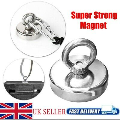Heavy Duty Powerful 220KG Permanent Recovery Detector Hunting Magnet Fishing UK