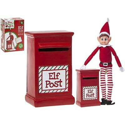 """Naughty Elves Father Christmas Xmas Elf Accessory 6"""" Post Box with Report Cards"""