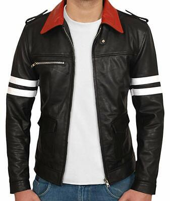 Mens Motorcycle Leather Jackets Alex Mercer Prototype Biker Racing Armour Sports