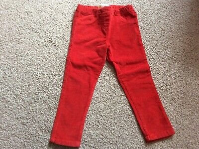 Girls Mini Boden Red cord skinny jeans trousers leggings age 3