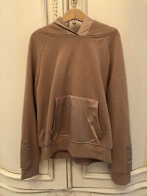 Ln Girls Next Beige Satin Front Hoodie Hooded Top Age 10