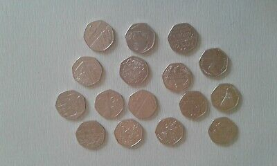 Job lot collectable 50p coins