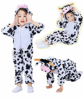Children's Kids Animal character Fancy Dress costume Cow outfit Halloween