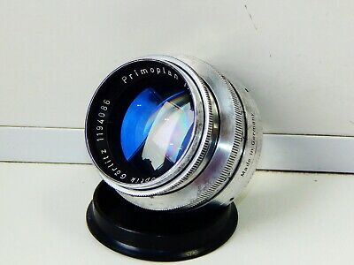 RARE SILVER Meyer-Optik-Görlitz Primoplan Red V 58 MM F1.9 SLR lens M42 EXC