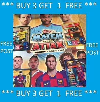 Match Attax 2019/20 Ltd Ed 100 Club Gold Silver Bronze Hattrick Buy 3 Get 1 Free