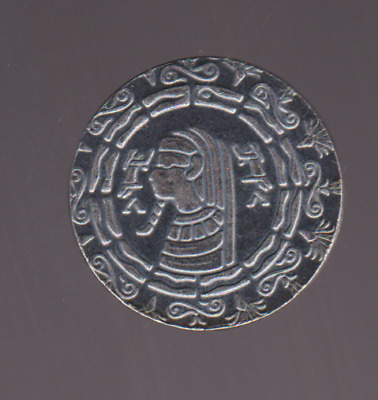 Antiqued Egyptian Coin Ancient King TUT, 1/2 ounce  .999 FINE SILVER  AA - 313