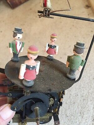 Vintage Black Forest Musical Cuckoo Clock Movement With Dancers  Working