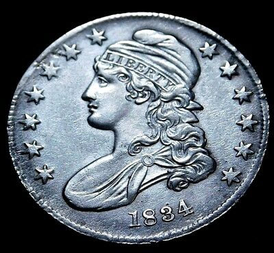 1934  Capped Bust Half Dollar  Lowest Price  a40-651