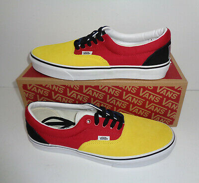 VANS Mens Classic Lace Up Era Off the Wall Trainers Shoes Yellow New UK Size 7