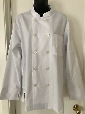 Chef Works White Long Sleeve Shirt Size Med RG - 2 Pockets