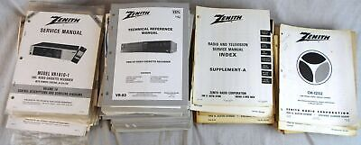 Lot of  30+ Pounds of Vintage Zenith Service Manuals & Related Documentation