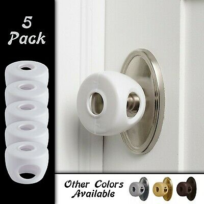 Child Door Knob Safety Cover Proof Safe Children Lock Guard Kids Toddler 5 Pack