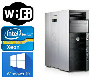 HP Z620 Workstation Xeon 8CORES E5-2690 2.9GHz 32GB DDR3 128GB SSD+1TB Q600 wifi
