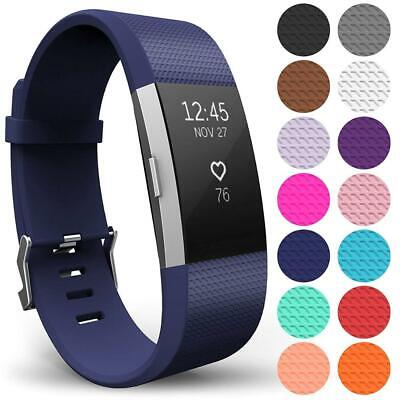 Replacement Strap For Fitbit Charge 2 Wristband with Metal Buckle