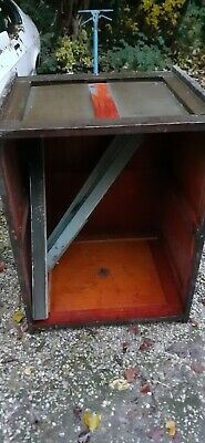 Rare Antique  Dumb Waiter Lift car,  Solid wood with cast weights, No pulleys.