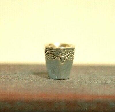 Miniature Sterling Silver Shot Glass Dollhouse 1:12 Artist Obadiah Fisher