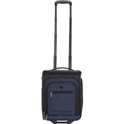 """Travelers Club Luggage Conway 17"""" Expandable Underseat Softside Carry-On NEW"""