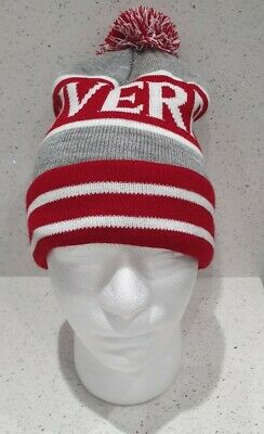 Liverpool Bobble Hat - Grey & Red