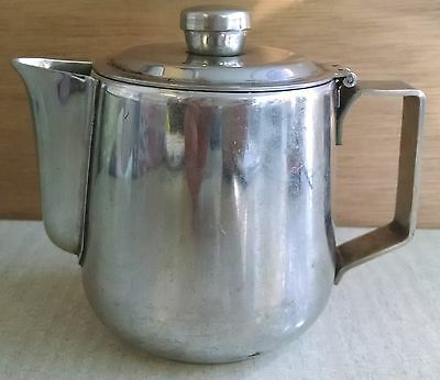 Silver Plated Milk Creamer Bowl with Flip Lid Coffee