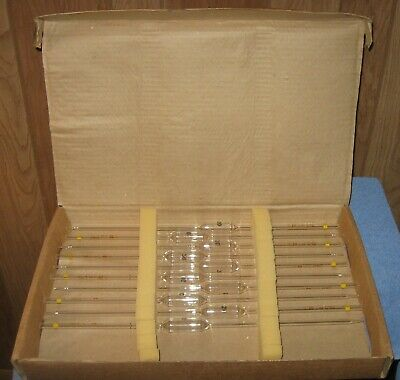 (10) Pyrex/Corning 20mL Glass Pipettes #7102 Reusable TD 20* Degree C