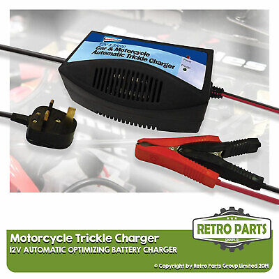 Automatic 12v Trickle Battery Charger For Moto Roma.  Optimize Storage