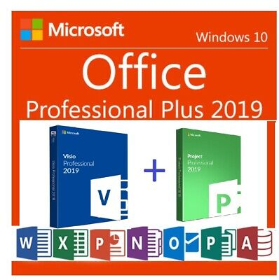 Microsoft Project 2019 visio 2019 FOR 1 PC GENUINE and office 2019 key for 1 PC
