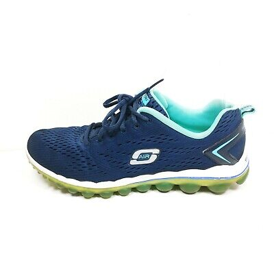 NEW SKECHERS WOMEN'S Skech Air Shoes In Navy, Size 4
