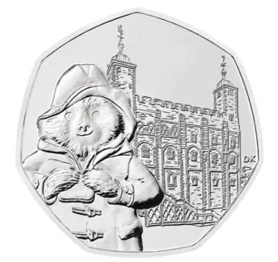 Rarest 50p coin*Paddington Bear @Tower of London Collectors Item Circulated